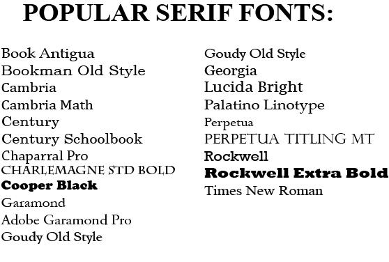 popular serif fonts