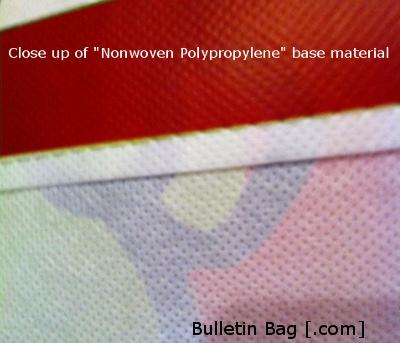 Nonwoven polypropylene custom bags base material