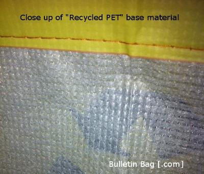 Recycled PET custom bags base material
