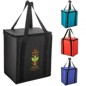 Square Zip Insulated Grocery Bag