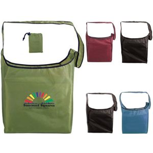 Recycled PET Folding Sling Tote Bag