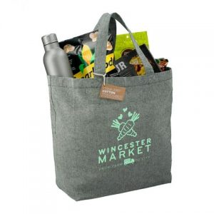 recycled cotton twill tote