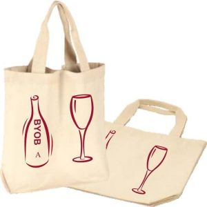 Recycled Cotton Bags | Double Canvas Wine Tote | Bulletin Bag [com]